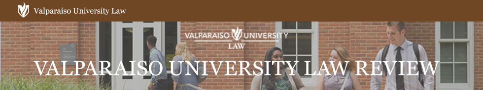 Valparaiso University Law Review