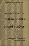 Graduate Catalog, 1963