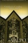 Graduate Catalog, 2002-2003 by Valparaiso University