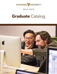 Graduate Catalog, 2017-2018 by Valparaiso University