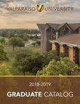 Graduate Catalog, 2018-2019 by Valparaiso University