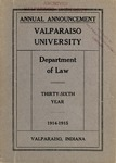 Old School Catalog 1914-15, The Department of Law