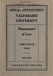 Old School Catalog 1913-14, The Department of Law