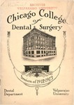 Old School Catalog 1912-13, Chicago College of Dental Surgery