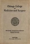 Old School Catalog 1911-12, Chicago College of Medicine and Surgery