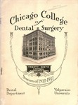 Old School Catalog 1910-11, Chicago College of Dental Surgery