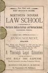 Old School Catalog 1904-05, The Law School