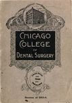 Old School Catalog 1903-04, Chicago College of Dental Surgery