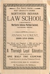Old School Catalog 1899-1900, The Law School