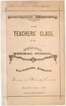 Old School Catalog 1878, Teachers' Graduating Class
