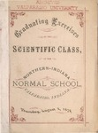 Old School Catalog 1878, Graduating Exercises of the Scientific Class