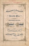 Old School Catalog 1875, Graduating Exercises of the Scientific Class