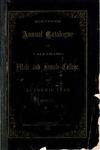 Old School Catalog 1869-70, Annual Catalog