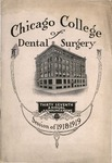 Old School Catalog 1918-19, Chicago College of Dental Surgery