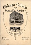 Old School Catalog 1915-16, Chicago College of Dental Surgery