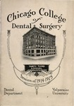 Old School Catalog 1914-15, Chicago College of Dental Surgery