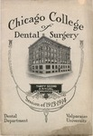 Old School Catalog 1913-14, Chicago College of Dental Surgery