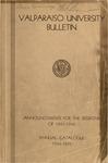 Undergraduate Catalog, 1944-1945